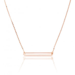 Collier Figaro Slim Vermeil Rose