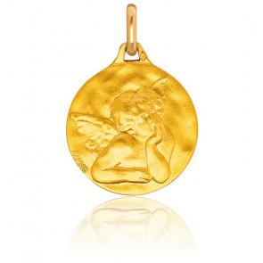 Médaille Ronde Ange Raphaël Ø16 mm Or Jaune 18K