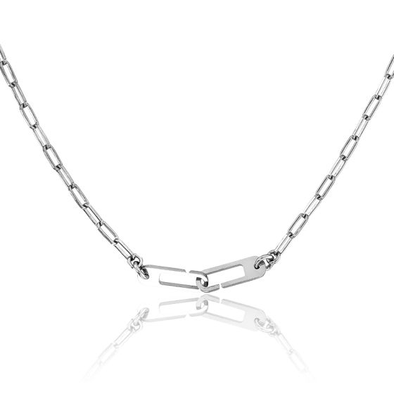Collier Osmose Chaîne Figaro Argent