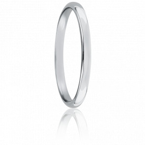 Alliance jonc parisien 2 mm or blanc 18K