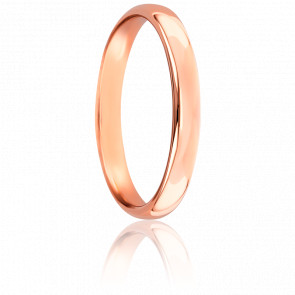 Alliance Jonc Parisien 3 mm Or Rose 18K