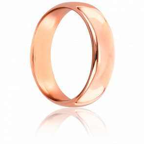 Alliance Jonc Parisien 5 mm Or Rose 18K