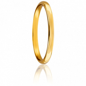 Alliance jonc parisien 2 mm or jaune 18K