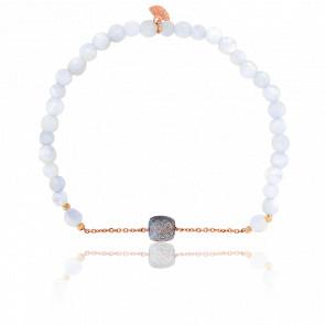 Bracelet Nude Briolettes Lune, Labradorite & Plaqué Or Rose