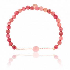 Bracelet Nude Briolettes, Opale Rose & Plaqué Or Rose