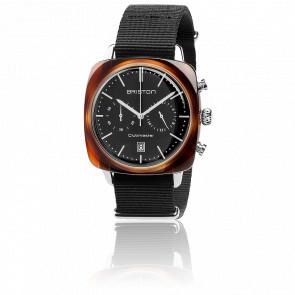 Clubmaster Vintage Chrono Acétate HMSD bracelet Nato noir