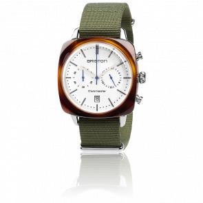 Clubmaster Vintage Chrono Acétate bracelet Nato vert