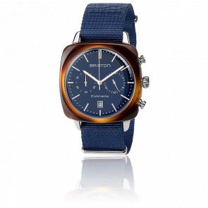 Clubmaster Vintage Chrono Acétate bracelet Nato bleu