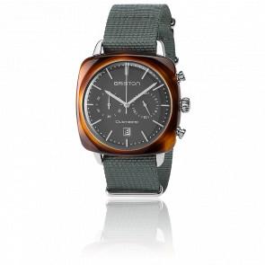Clubmaster Vintage Chrono Acétate bracelet Nato gris