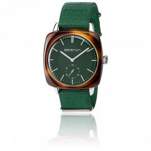 Clubmaster Vintage HMS Acétate bracelet Nato vert