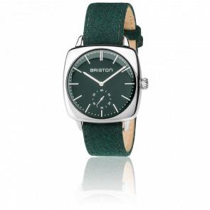 Clubmaster Vintage Acier HM Petite Seconde Flanelle vert