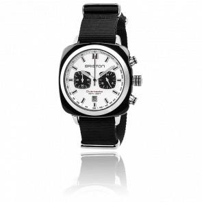 Clubmaster Sport Acétate Chrono blanc bracelet Nato