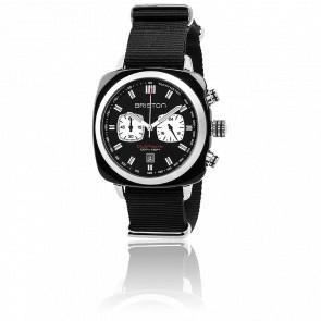Clubmaster Sport Acétate Chrono noir bracelet Nato