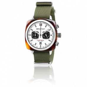Clubmaster Sport Acétate Chrono bracelet Nato vert militaire
