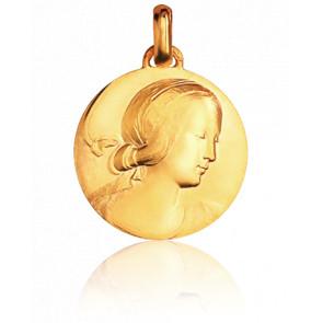 Médaille Vierge de Milan Or Jaune 18K