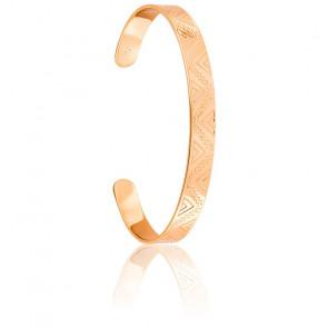 Bracelet Demi-Jonc Maya Plaqué Or