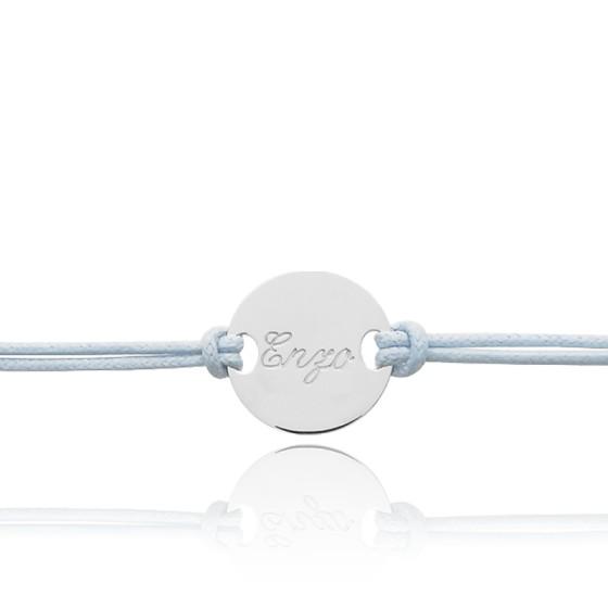 modélisation durable la réputation d'abord éclatant Bracelet cordon personnalisable Or Blanc 9 ou 18K - Bambins - Ocarat