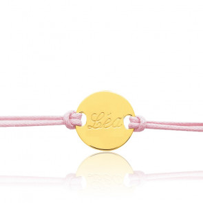 Bracelet cordon personnalisable or jaune 18K