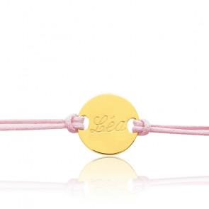 Bracelet cordon personnalisable or jaune 18K