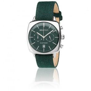 Clubmaster Vintage Chrono Acier Date Flanelle vert