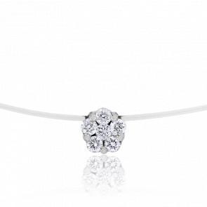 Collier Sunlight Diamants 0,08 ct & Or Blanc 18K