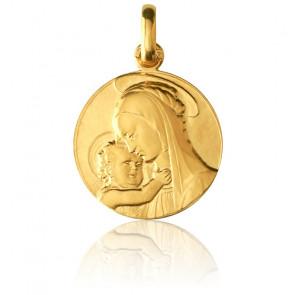 Médaille Vierge de Botticelli Or Jaune 18K