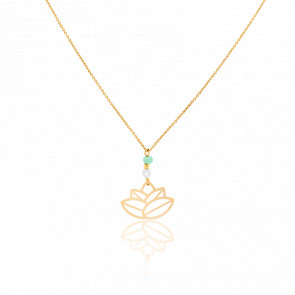 Collier Small Zen Perles & Plaqué Or