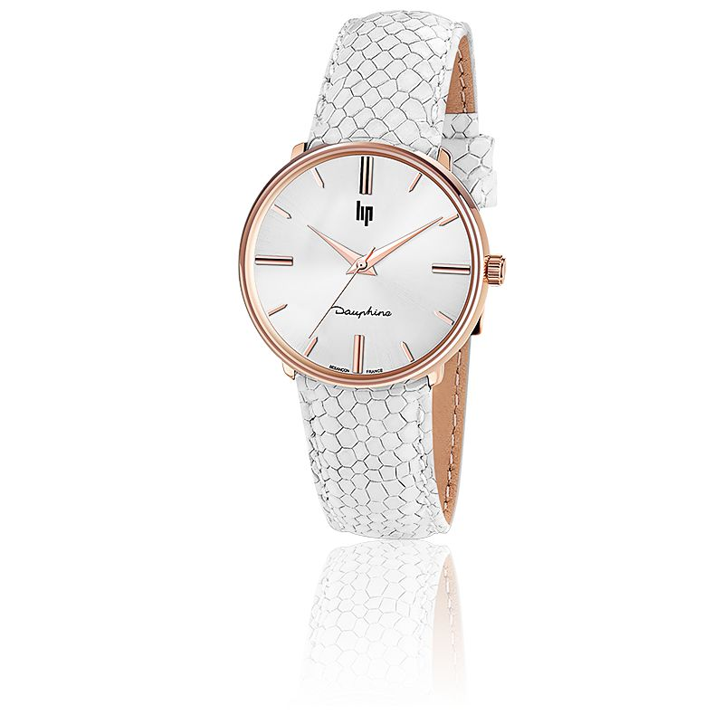 Dauphine 34 Rose Gold Écailles Blanches 671292