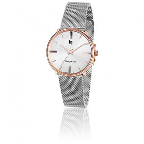 Dauphine 34 Rose Gold Silver Mesh 671319
