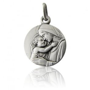 Médaille Vierge A l'Enfant Argent