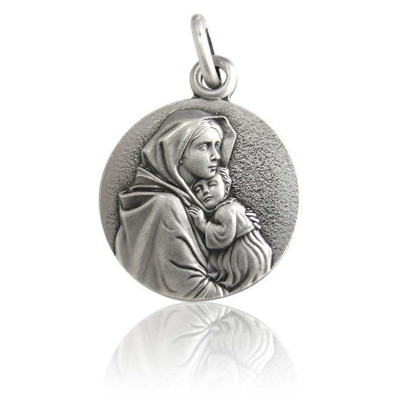 Médaille Vierge à l'Enfant Ferruzzi Argent