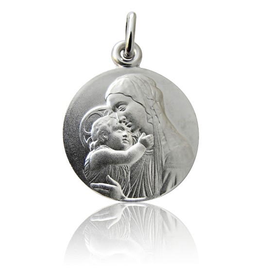 Médaille Vierge A l'Enfant Botticelli Argent