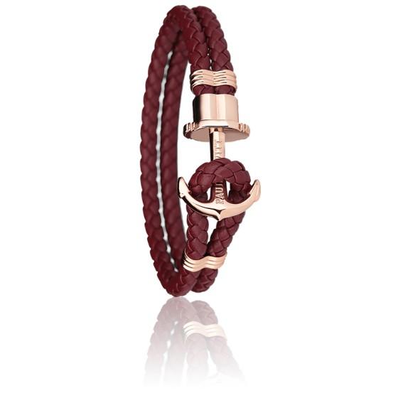 bracelet ancre femme rose