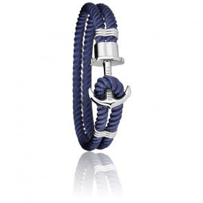 Bracelet Ancre PHREP Acier, Nylon Navy Blue