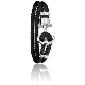 Bracelet Ancre PHREP Acier, Nylon Black