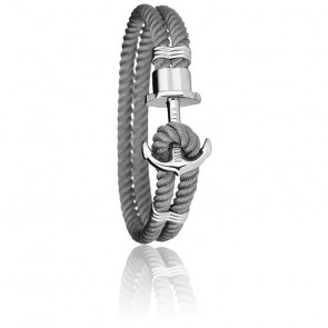 Bracelet Ancre PHREP Acier, Nylon Grey
