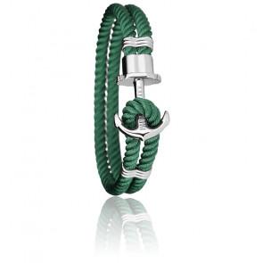 Bracelet Ancre PHREP Acier, Nylon Green