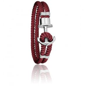 Bracelet Ancre PHREP Acier, Nylon Dark Berry