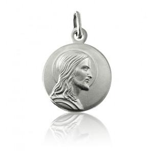Médaille Jésus Profil Argent