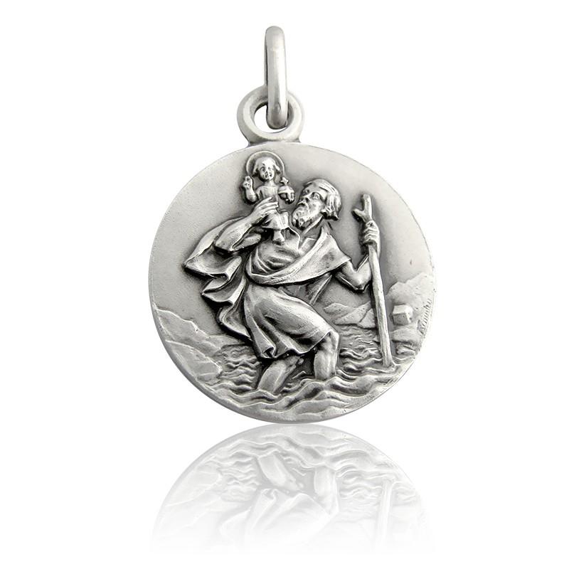 Médaille Saint Christophe Marchant Argent