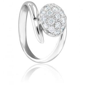 Bague Bouton Diamanté Taille 49
