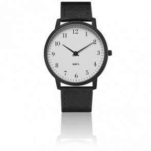 M&Co Black Bodoni Watch 40mm