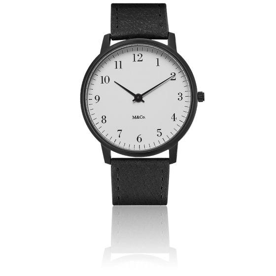 M&Co Black Bodoni Watch 40mm