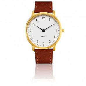 M&Co Brass Bodoni Watch 40mm