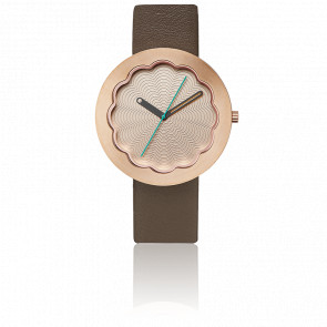 Scallop Rose Gold Watch