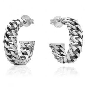 Boucles d'Oreilles Chain Argent