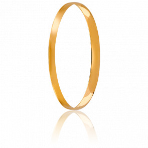 Bracelet Demi Jonc Plat Ø63 mm Massif Or Jaune 18K