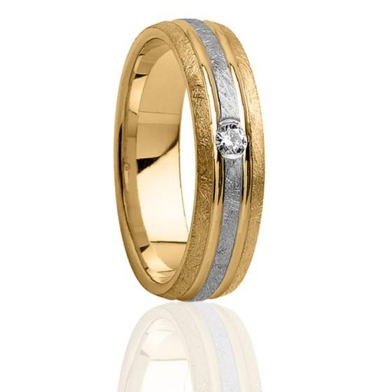 Alliance Pontos 5 mm 2 Ors et Diamant