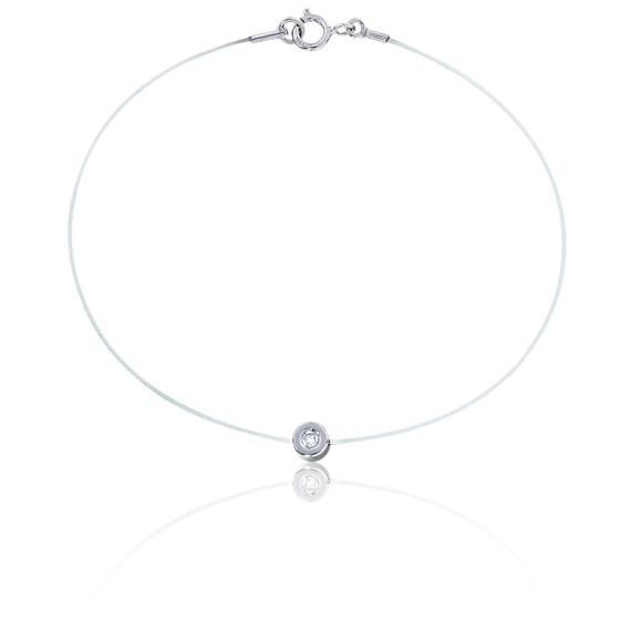 En stock Bracelet Fil de Pêche Diamant \u0026 Or Blanc 18K