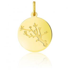 Médaille Arbre de Vie Branche Or Jaune 18K
